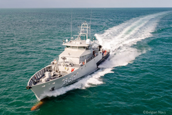 CASTOR, a 53m OPV is designed by MAURIC for the Belgian Navy. The steel hull and aluminium superstructure design combined with an optimized hull form provides excellent seakeeping capabilities and allows launch and recovery of fast intervention rhibs thanks to a stern ramp or a davit.
