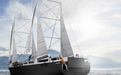 NEOLINER 136m: a cargo ship powered by Wind!