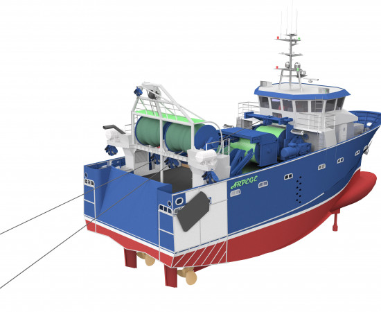 Arpège, A new concept of 25m Diesel-electric trawler